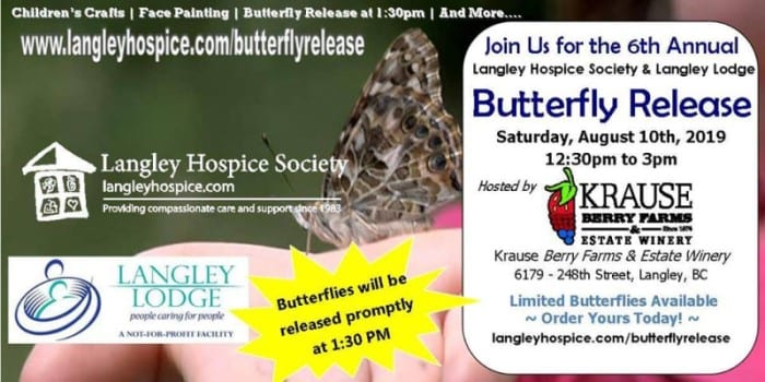 Krause berry farm butterfly release event information